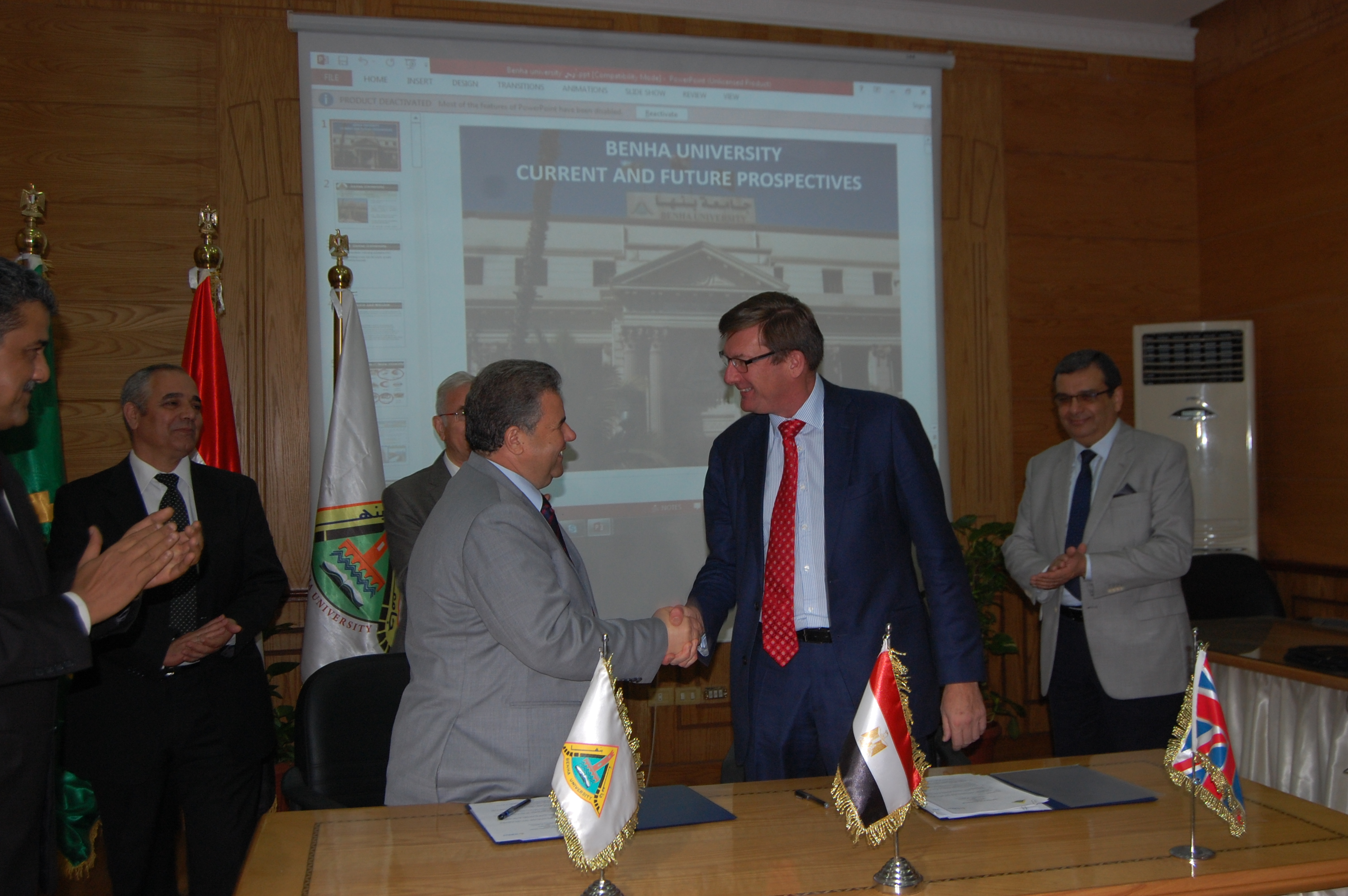 Benha University  received a delegation from University of Surrey